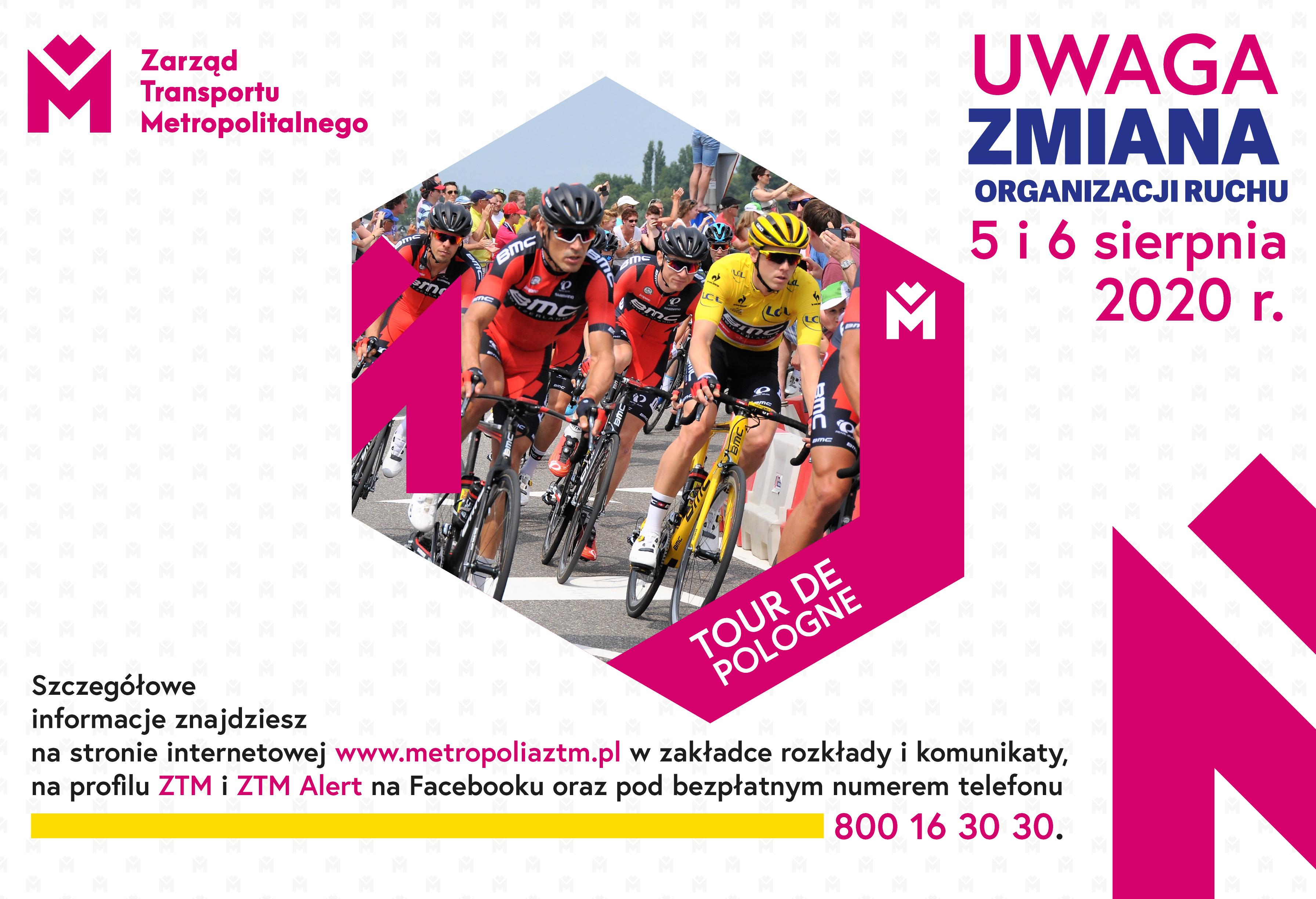 Tour de Pologne - zmiany w funkcjonowaniu komunikacji