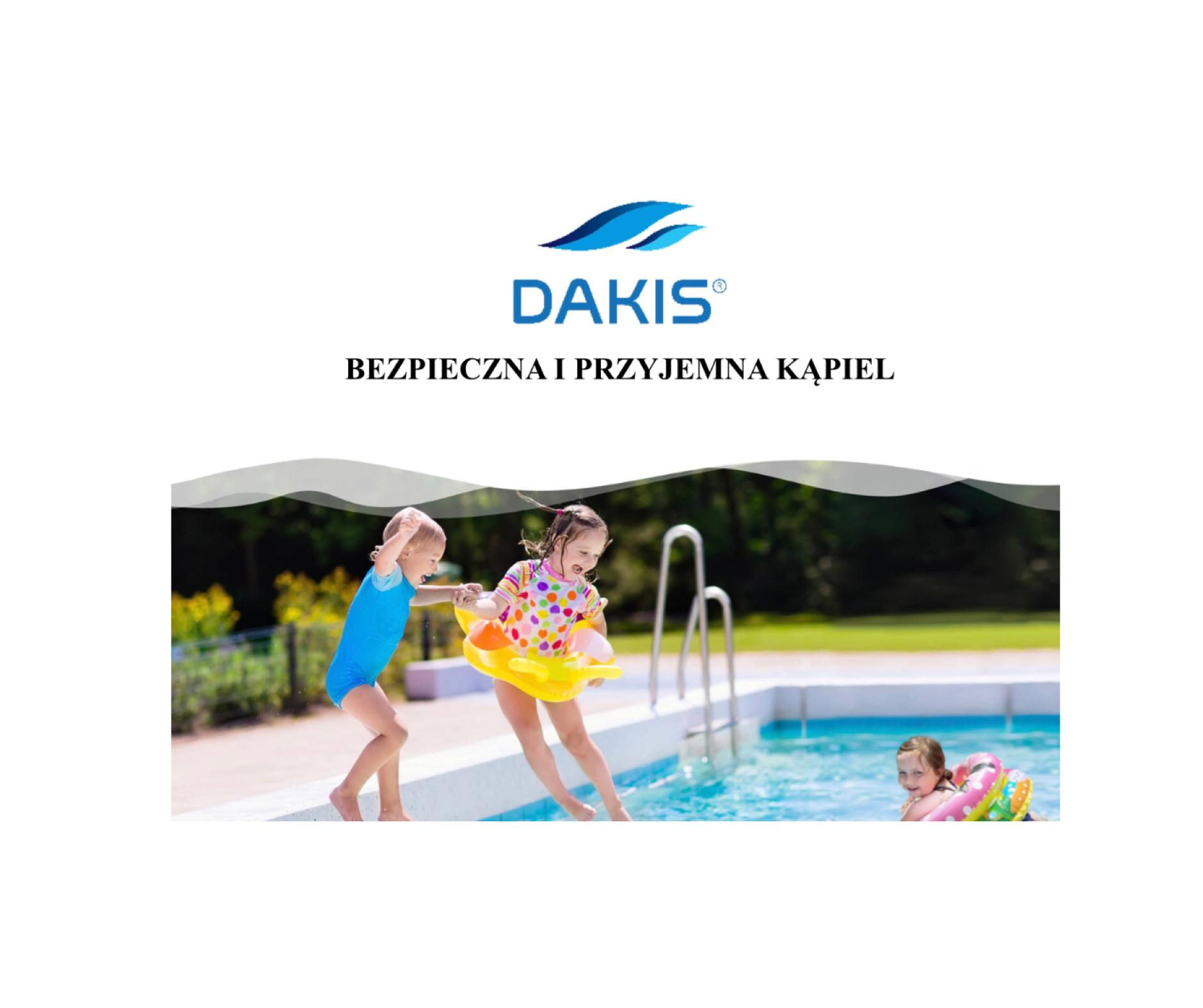 Firma DAKIS Sp. z o.o. z Krupskiego Młyna poleca swój produkt DELFIN PRIME do dezynfekcji wody basenowej