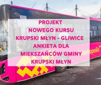 Projekt autobusowej linii przyspieszonej relacji Krupski Młyn Słoneczna - Gliwice Kujawska (Politechnika)